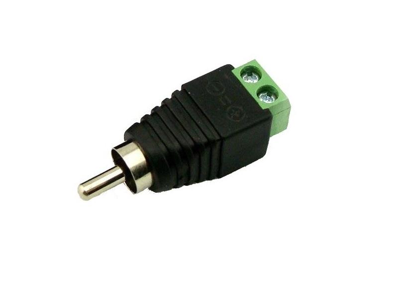 Разъем RCA на 2-pin винтовой